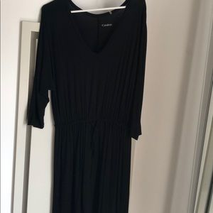 Black, 3/4 sleeve dress